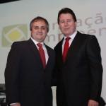 À esquerda Presidente FE, Sr. Ciro José Cerutti, à direita Presidente FACISC, Ernesto João Reck